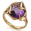 Кольцо с аметистом огранки бриолет SL-2140-595 весом 5.9 г  стоимостью 33040 р.