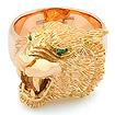 Мужской перстень с головой тигра из золота — на заказ SLY-K002 весом 35 г  стоимостью 179000 р.