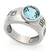 Серебряное кольцо с топазом SL-02191-660 весом 6.6 г  стоимостью 3200 р.
