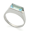 Серебряное кольцо с топазом SL-02063-380 весом 3.81 г  стоимостью 1700 р.