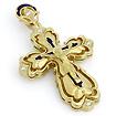 Золотой нательный крест с бриллиантами SLS-502-220 весом 19.5 г  стоимостью 189000 р.