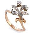 Золотое кольцо с бриллиантами SLV-K004 весом 3.35 г  стоимостью 39600 р.