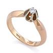 Золотое кольцо с бриллиантами SLV-K124 весом 3.5 г  стоимостью 31860 р.