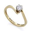 Золотое кольцо с бриллиантами SLV-K037 весом 2.04 г  стоимостью 52200 р.