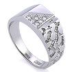Золотая печатка с бриллиантами / Мужской перстень с бриллиантами из золота SLV-K455 весом 6.62 г  стоимостью 88200 р.