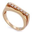Золотое кольцо с бриллиантами SLV-21139 весом 4 г  стоимостью 30600 р.