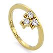 Золотое кольцо с бриллиантами SLV-21233 весом 3.33 г  стоимостью 54000 р.