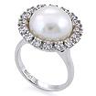 Золотое кольцо с бриллиантами и жемчугом SLY-5186-826 весом 8.26 г  стоимостью 286300 р.