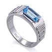 Мужское кольцо с топазом / Мужской перстень с топазом из золота SL-6191-697 весом 6.97 г  стоимостью 35700 р.