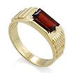 Золотой мужской перстень с гранатом / Мужское кольцо с гранатом из золота SL-6190-673 весом 6.73 г  стоимостью 34580 р.