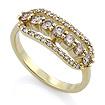 Золотое кольцо с бриллиантами SLY-0208-275 весом 2.73 г  стоимостью 68000 р.