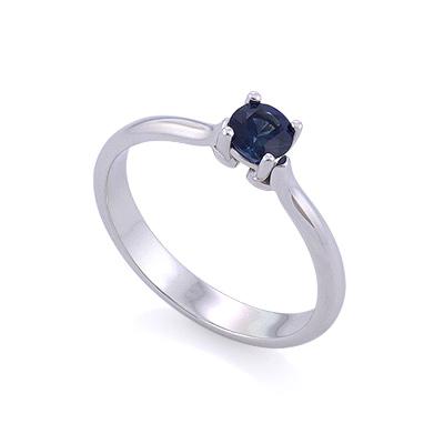 Помолвочное кольцо с сапфиром 2.61 г SLY-0204-223