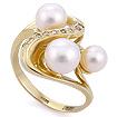 Золотое кольцо с бриллиантами и жемчугом SLK-2870-675 весом 6.69 г  стоимостью 68000 р.
