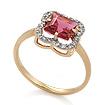 Золотое кольцо с турмалином и бриллиантами SV-0514-180 весом 1.81 г  стоимостью 55600 р.