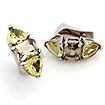 Серьги из серебра с полудрагоценными камнями: цитрином и раухтопазом SL-01133-1092 весом 10.92 г  стоимостью 5600 р.