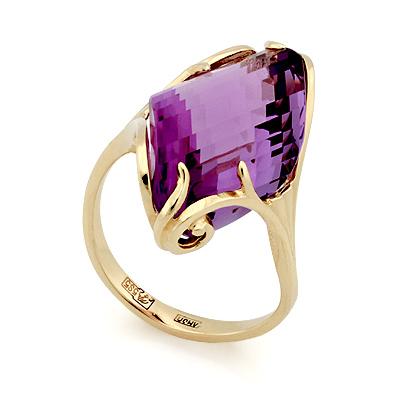 Золотое кольцо с аметистом 5.5 г SL-02431-498