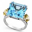 Серебряное кольцо с топазом SL-2126-730 весом 7.3 г  стоимостью 12000 р.