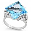 Серебряное кольцо с топазом SL-2143-690 весом 6.9 г  стоимостью 11000 р.
