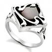 Серебряное кольцо с натуральным черным перламутром SL-2146-440 весом 4.4 г  стоимостью 1650 р.