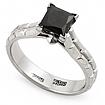 Кольцо с черным квадратным бриллиантом SLY-0275-525 весом 5.25 г  стоимостью 96500 р.